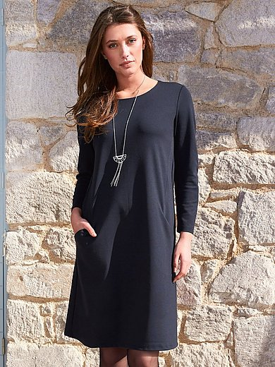 Peter Hahn - Jersey dress with 7/8-sleeves
