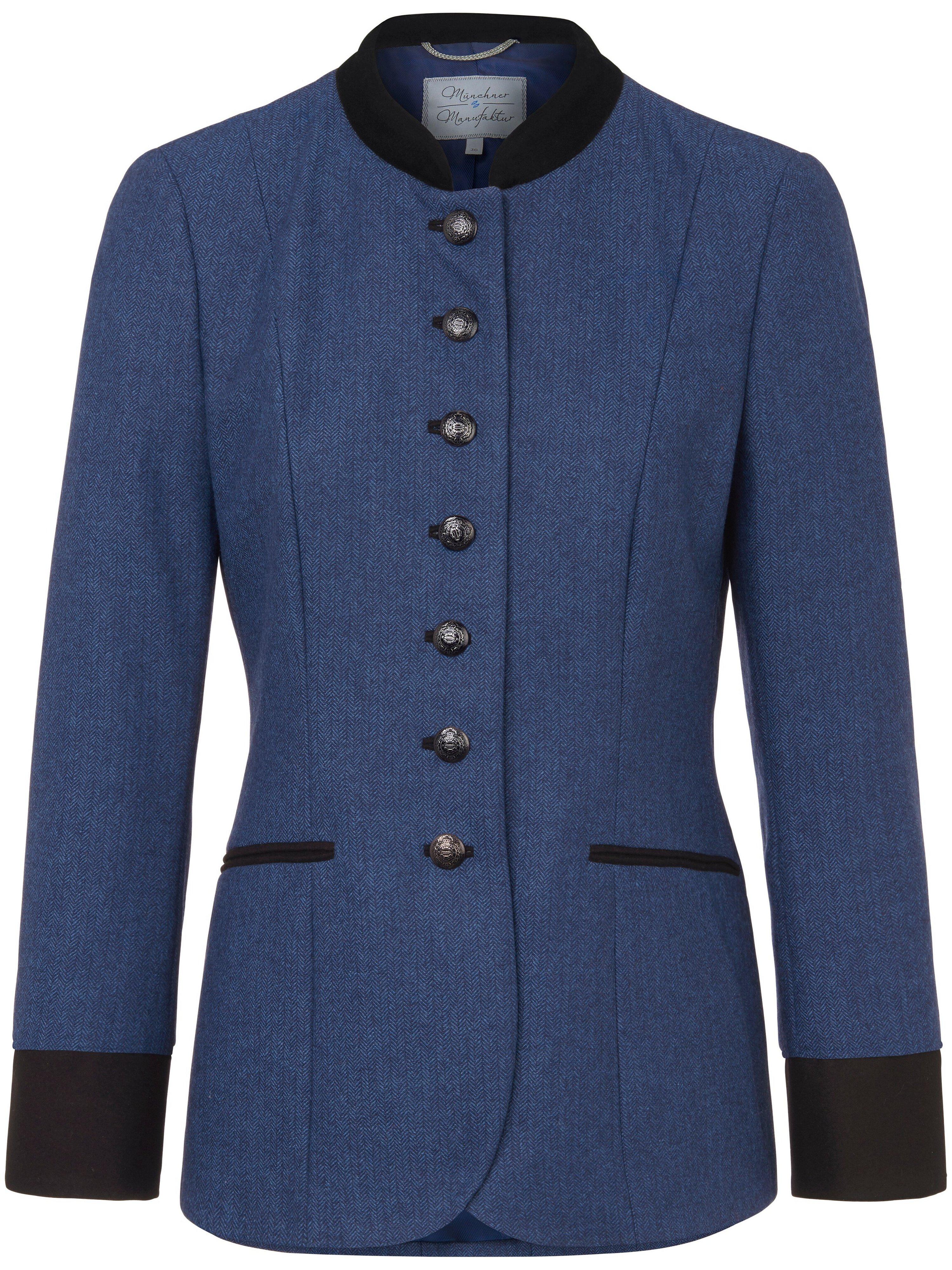 La veste 100% laine  Münchner Manufaktur bleu taille 50