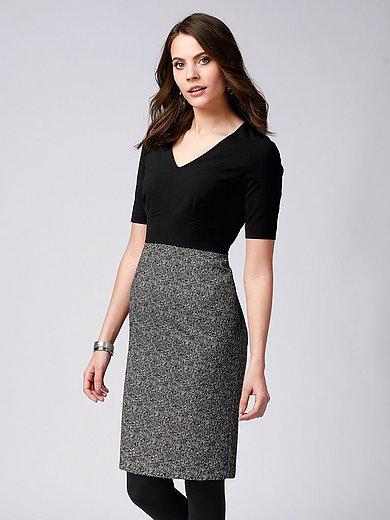 comma, - Dress with herringbone pattern