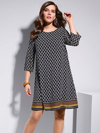 Samoon - A-line dress with short sleeves