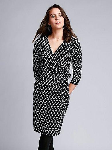comma, - Jersey-Kleid mit 3/4-Arm