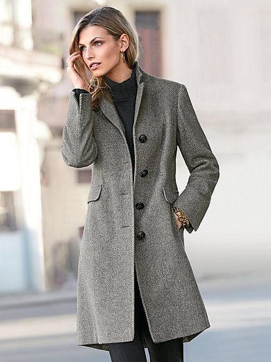 Peter Hahn - Knee-length coat in 100% new milled wool