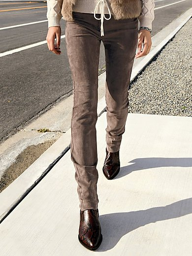 Brax Feel Good - Le pantalon en cuir modèle Shakira