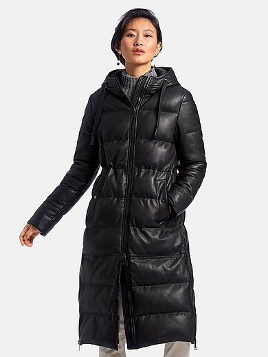 Milestone - Le manteau en cuir matelassé à capuche