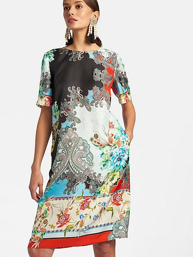 Laura Biagiotti Roma - Dress with short sleeves in 100% silk