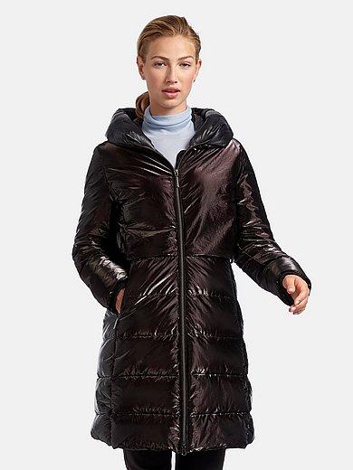 Green Goose - Lange gewatteerde jas in glans-look