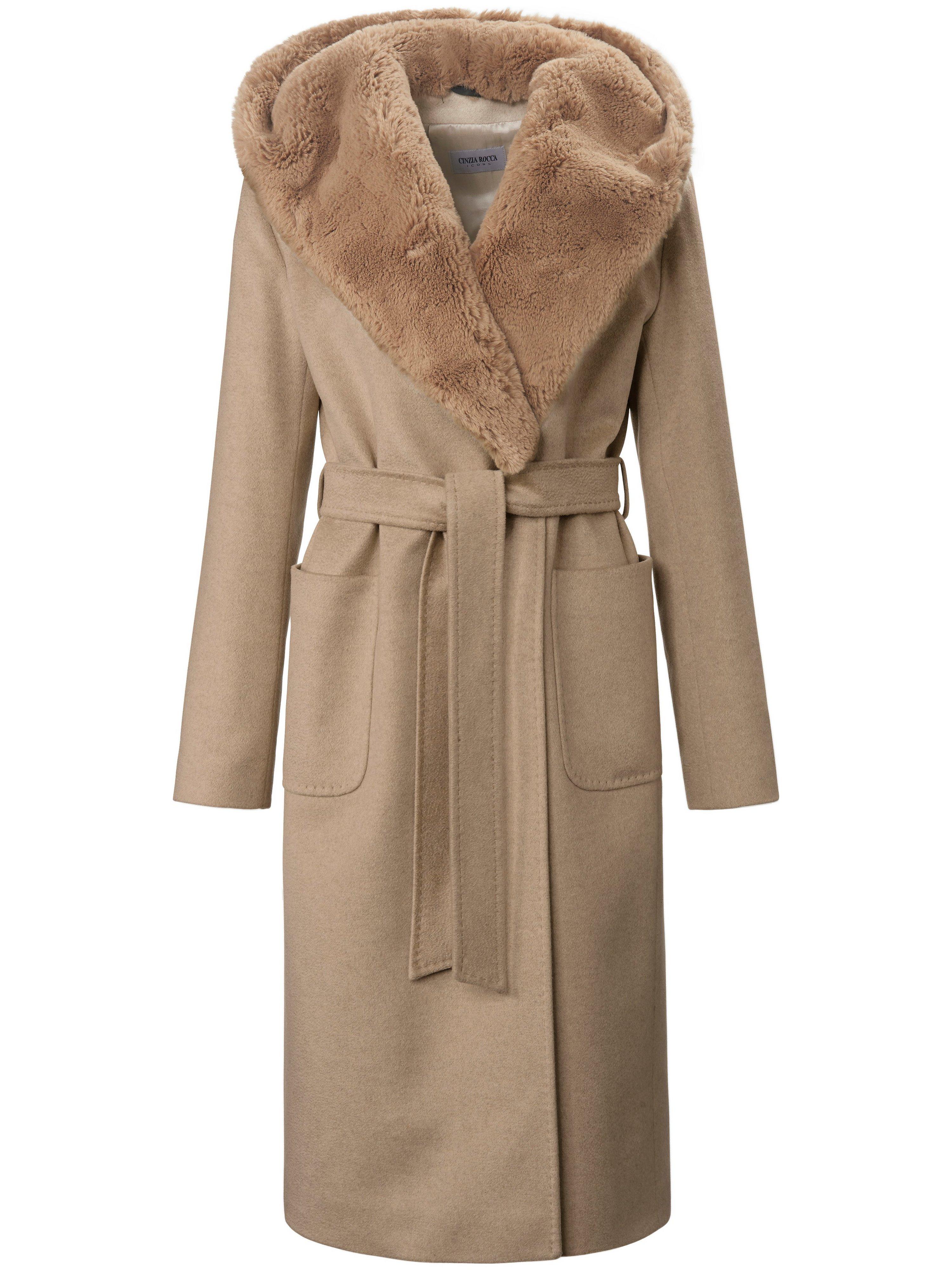 Le manteau en drap laine  Cinzia Rocca beige