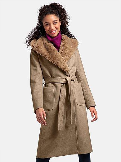Cinzia Rocca - Coat with shawl collar and hood