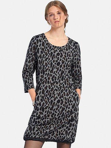 Margittes - Jerseyjurk met 3/4-mouwen en luipaardprint