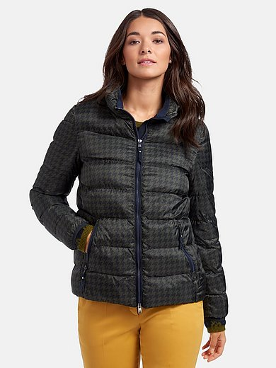 Brax Feel Good - Quilted jacket with houndstooth print