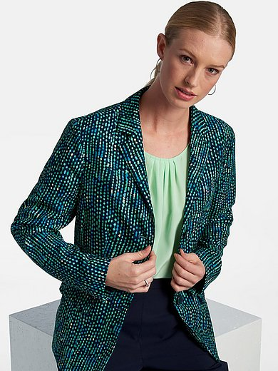 Basler - Blazer with revere collar and print