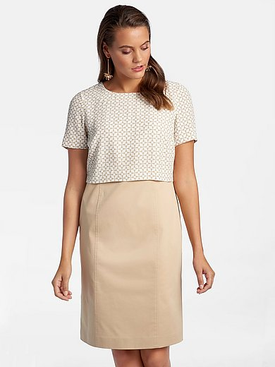 Basler - Narrow shift style dress with short sleeves