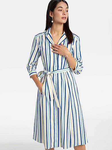 Basler - Striped dress with 3/4-length sleeves