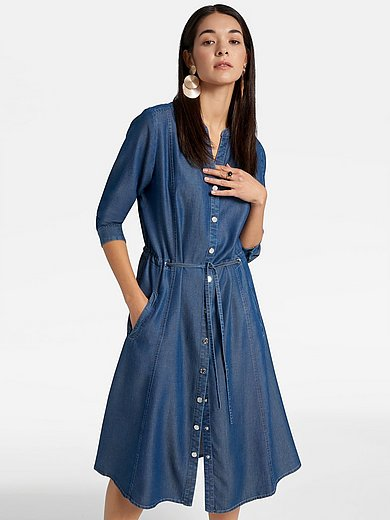 Basler - Denim look dress with 3/4-length sleeves