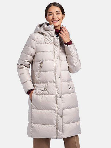 Schneiders Salzburg - Quilted down coat with zip-off hood