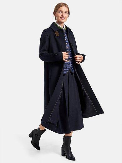 Schneiders Salzburg - Lange jas van 100% scheerwol met platte kraag