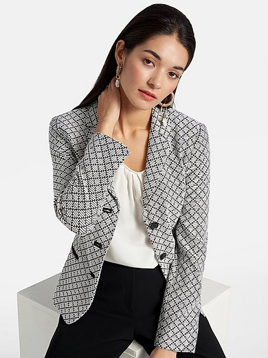 Basler - Jersey blazer with jacquard graphic pattern
