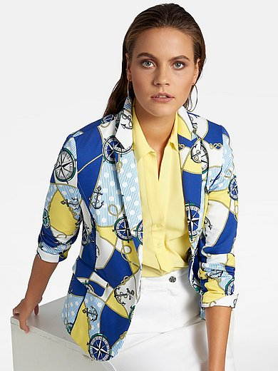 Basler - Jersey blazer with nautical motifs