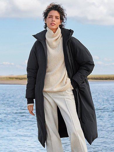 LangerChen - Lange jas van organic-cotton met staande kraag