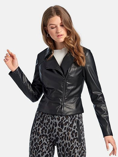 comma, - Faux leather biker style jacket