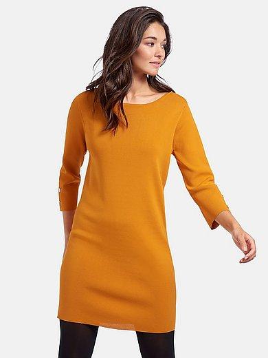 comma, - Stickad klänning med 3/4-ärm
