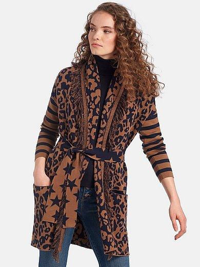 LIEBLINGSSTÜCK - Long cardigan in a mix of patterns