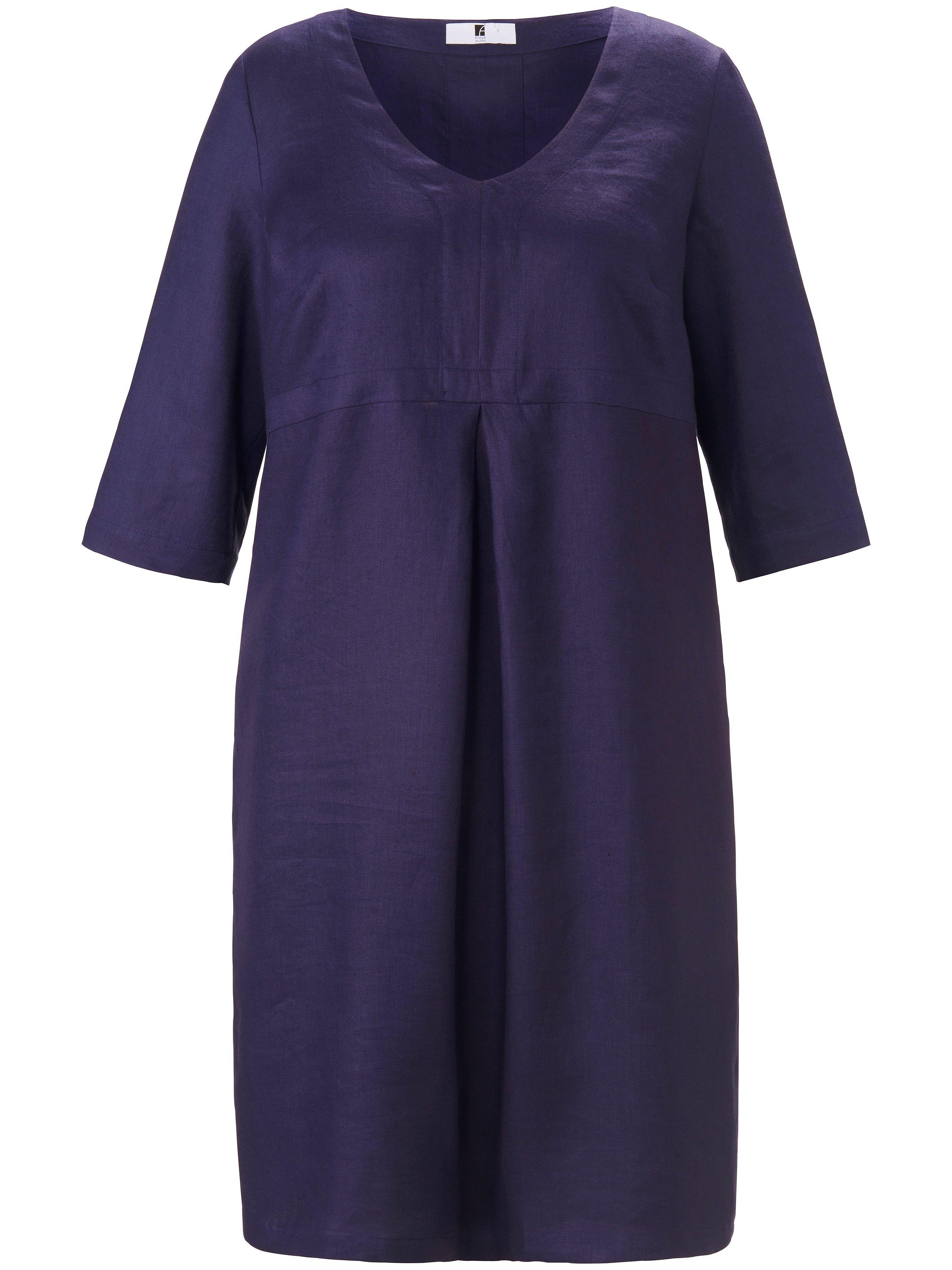 Dress in 100% linen Anna Aura blue