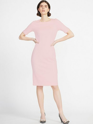 Peter Hahn - Jersey dress with square neckline