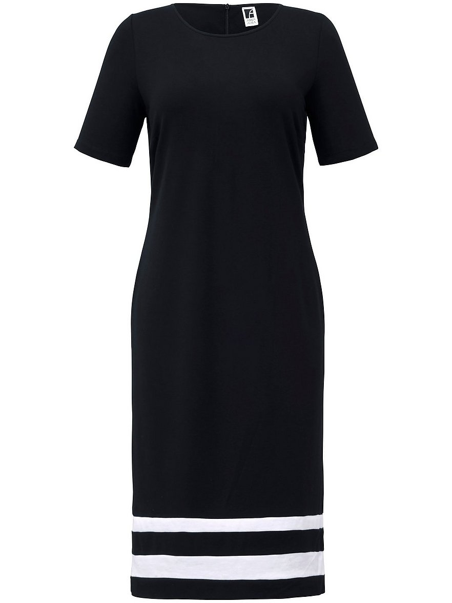 anna aura - Jersey-Kleid 1/2-Arm  schwarz Größe: 56
