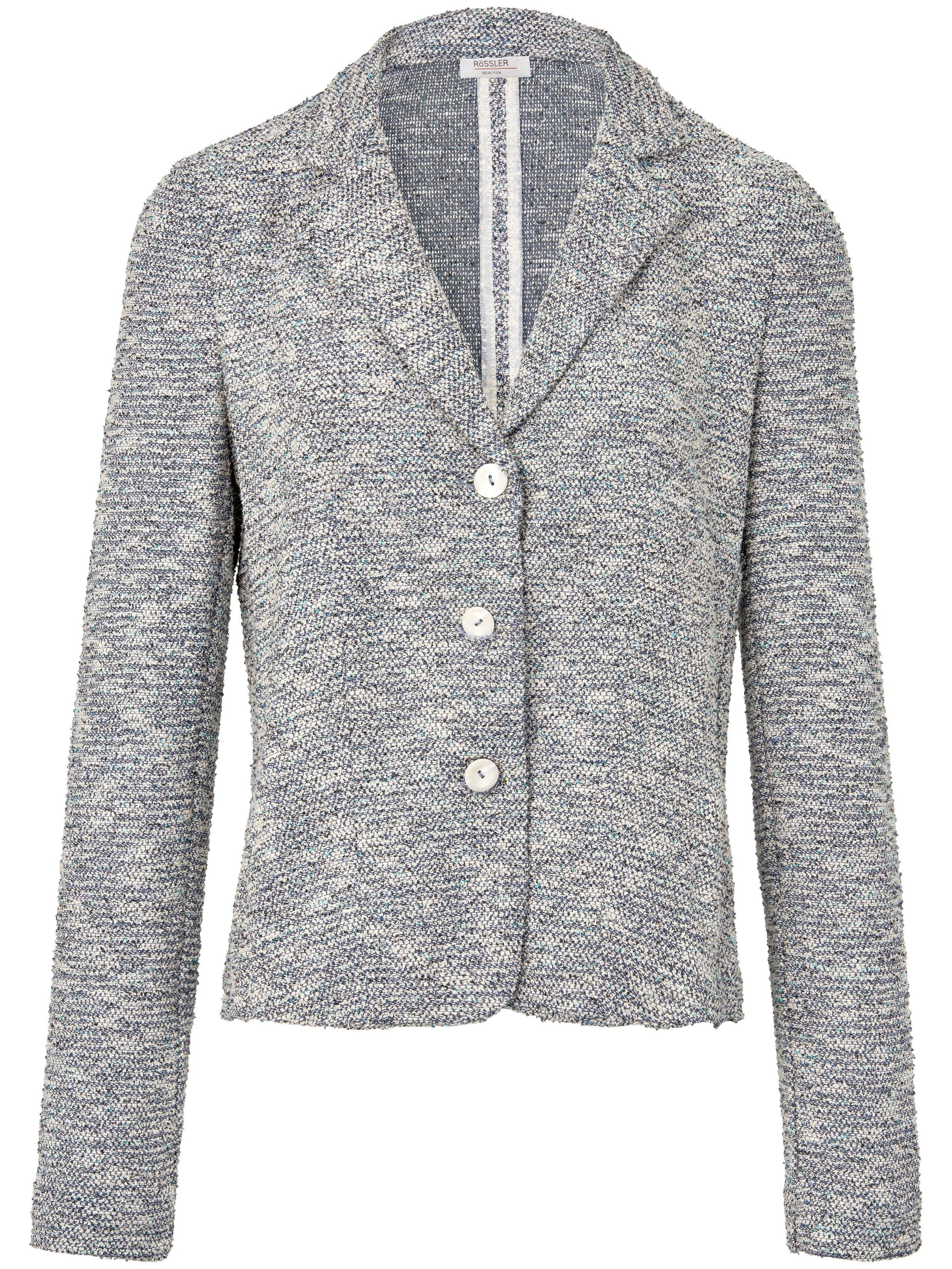 Le blazer imprimé jersey, col tailleur  Rössler Selection bleu taille 40