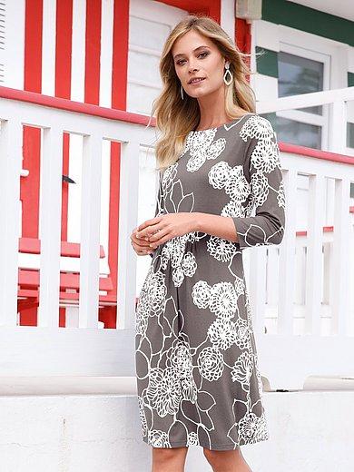 Efixelle - La robe en jersey imprimé, manches 3/4
