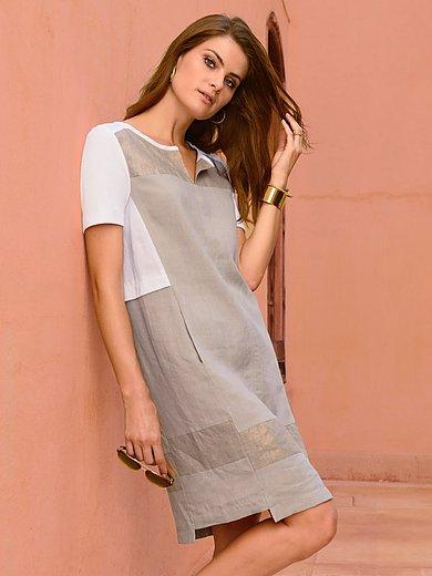 Riani - La robe à manches courtes en pur lin, ligne droite