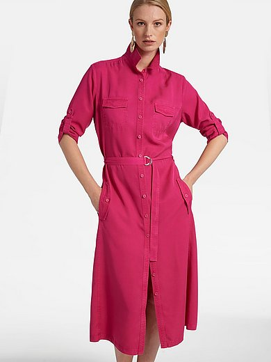 Basler - Dress with 3/4-length turn-up sleeves