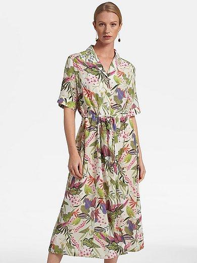Basler - Dress with leaf and floral motifs