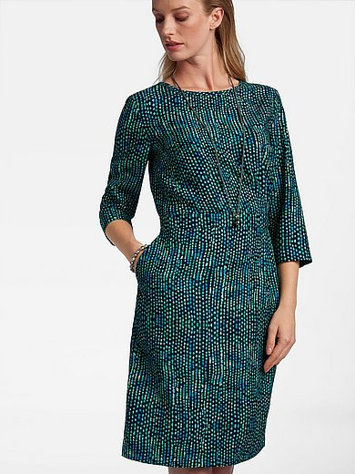 Basler - Dress with 3/4-length sleeves and print
