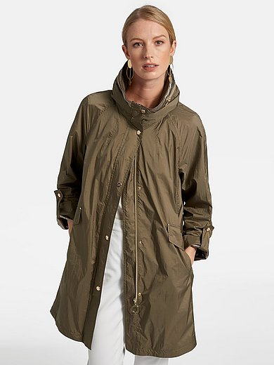 Basler - Knee-length coat with stand-up collar