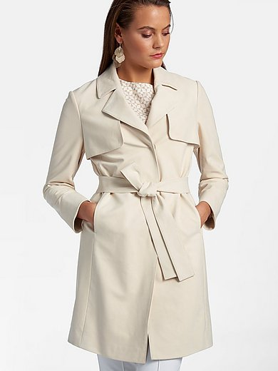 Basler - Faux suede trench coat