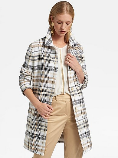 Basler - Urban look coat with check pattern