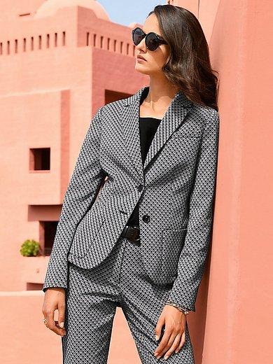 St. Emile - Jersey blazer with graphic minimal pattern