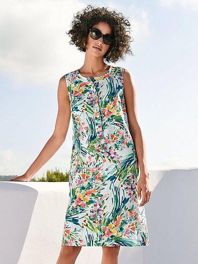 Peter Hahn - Mouwloze jurk met print van bloemboeketten