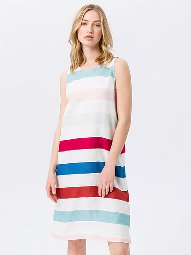 Peter Hahn - Mouwloze jurk van 100% linnen met zijsplitjes