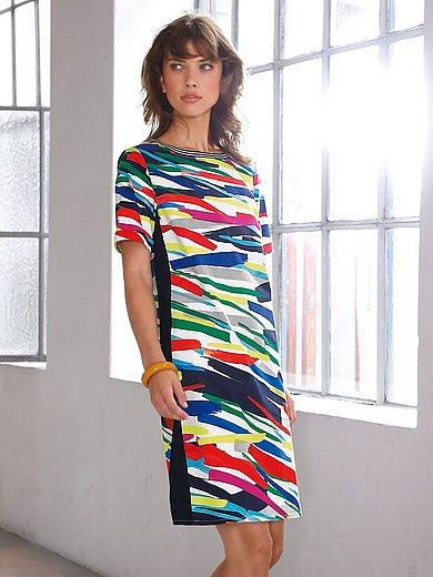 Looxent - Kjole med korte ærmer og penselstrøgsprint