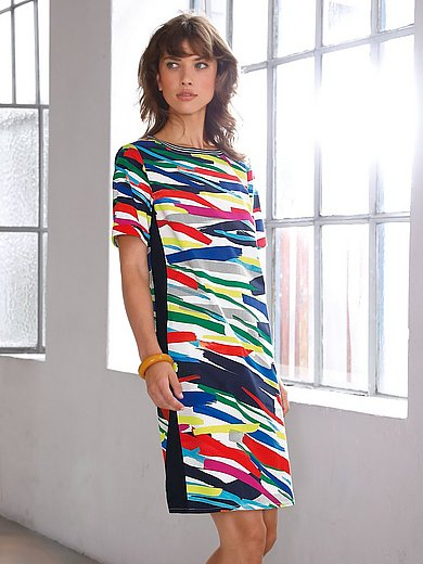 Looxent - Summer dress with brushstroke print
