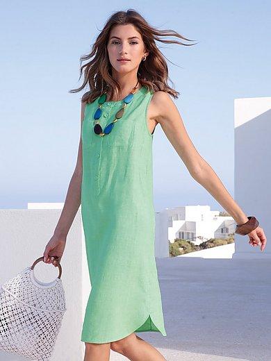 mayfair by Peter Hahn - Mouwloze jurk van 100% linnen met ronde hals