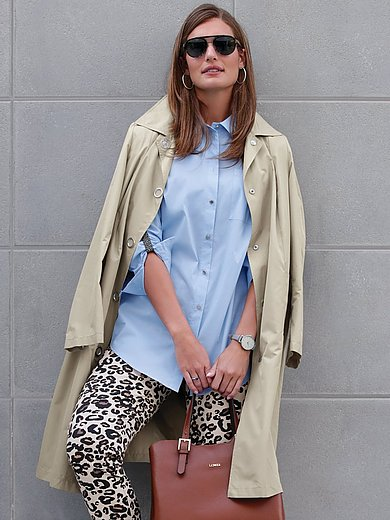 Emilia Lay - Trench coat with press stud fasteners
