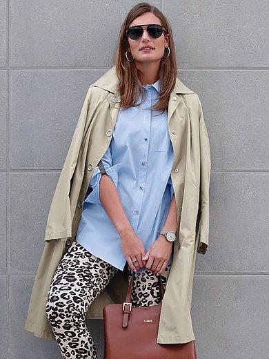 Emilia Lay - Trenchcoat in lang model met drukknoopsluiting
