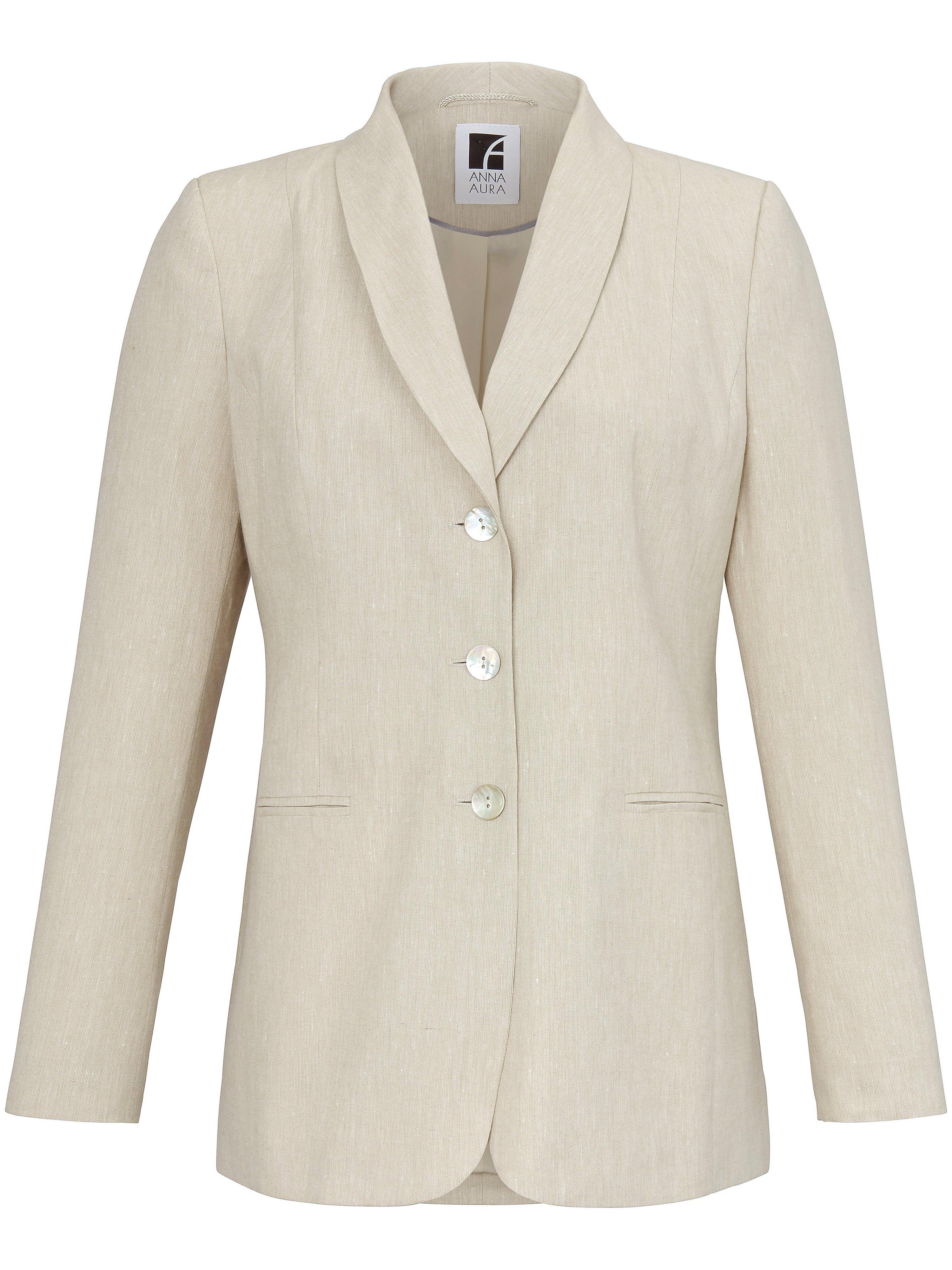 Le blazer à effet structuré du lin  Anna Aura beige taille 52