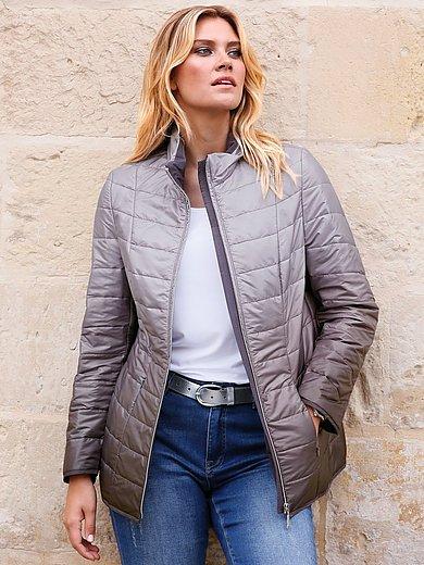 Anna Aura - Gewatteerde jas met lange mouwen en staande kraag