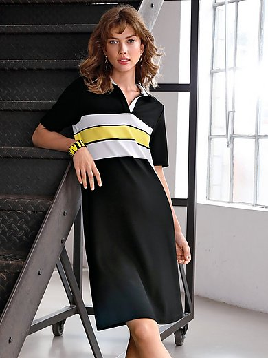 Looxent - Jersey polo dress with short sleeves