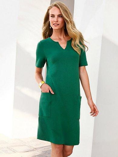 ZAIDA - Jersey dress with V-shaped neckline